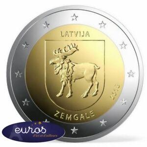 Piece-2-euros-commemorative-LETTONIE-2018-Region-de-Zemgale-Qualite-UNC
