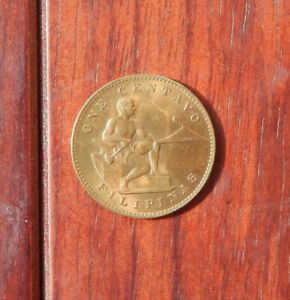 1944s Philippines One Cent Coin Beauty AU/Unc Uncertified