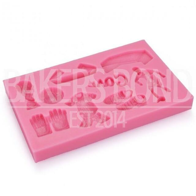 Football Goal Boots World Cup Sport Cupcake Cake Topper Silicone Baking Mould