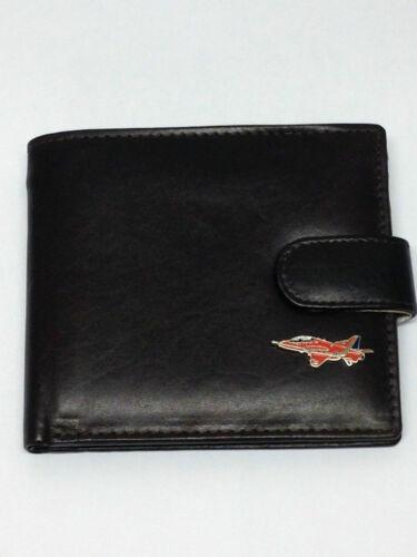 Red Arrow Aeroplane Leather Wallet Black//Dark//Tan Brown Gift Boxed Enamel RAF