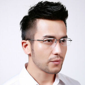 551da85b6a6a Image is loading Half-Rimless-Reading-Glasses-Frame-Optical-Eyeglasses- Spectacles-