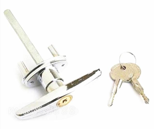 1pcs Garage Door Opener T Lock Handle With 2 Keys Secure