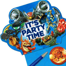 Item 1 Skylanders Birthday Party Invitations 8 Pack With STD Stickers And Seals