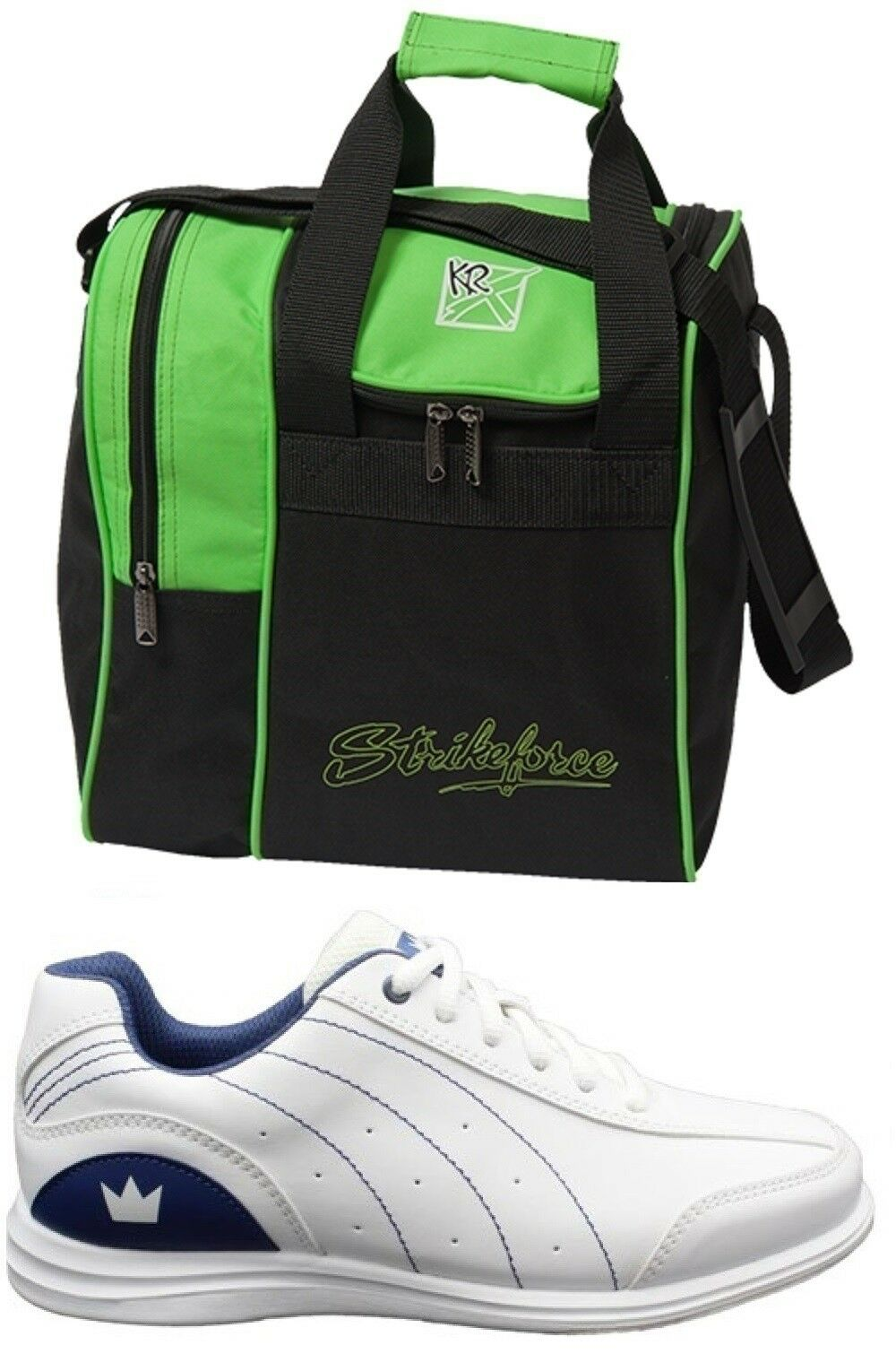 Womens MYSTIC Bowling Ball shoes White bluee Sizes 7-11 WIDE & Green 1 Ball Bag