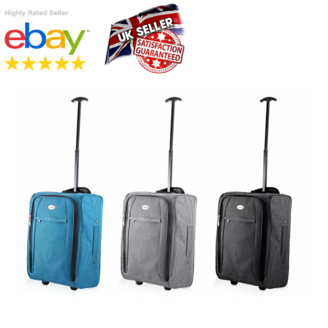 3214da2d2fd4 Small Wheeled Suitcase Travel Cabin Bag Carry On Soft Case Hand Luggage  Trolley