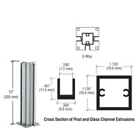 Crl Satin Anodized 12 3-way Design Series Partition Post