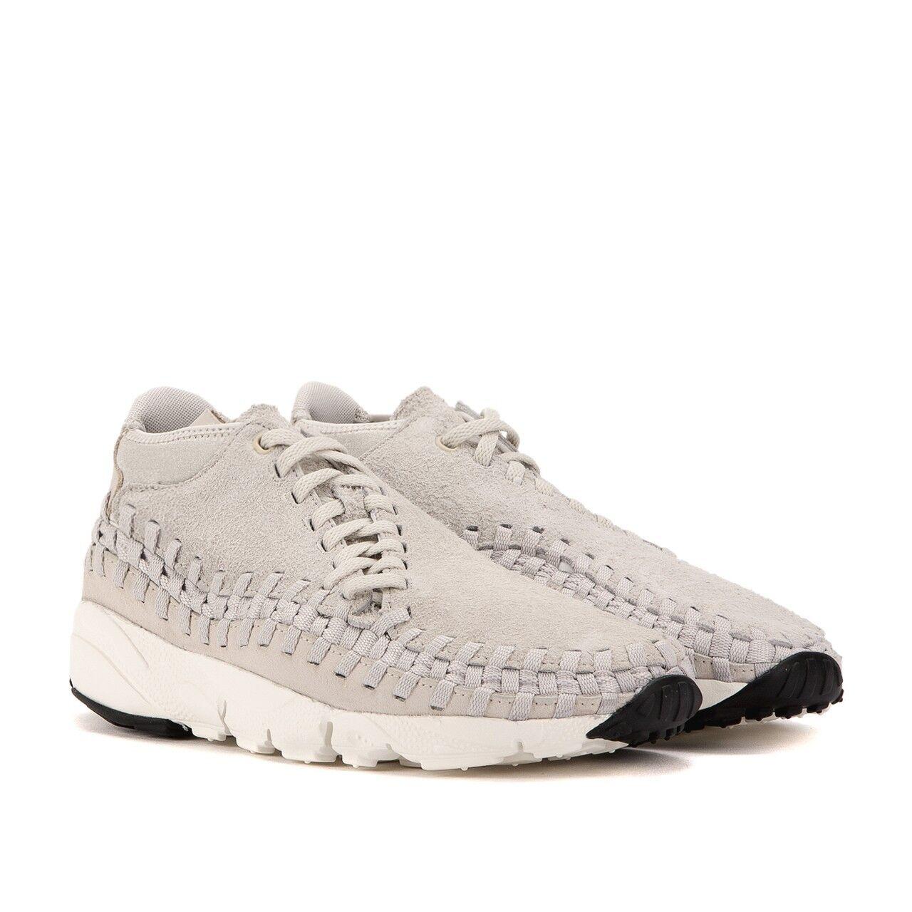 New Men's Nike Air Footscape Woven Chukka QS Light Bone White 913929-002