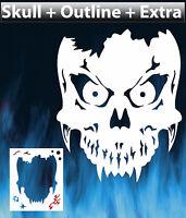 Skull 7 Airbrush Stencil Spray Vision Template Air Brush