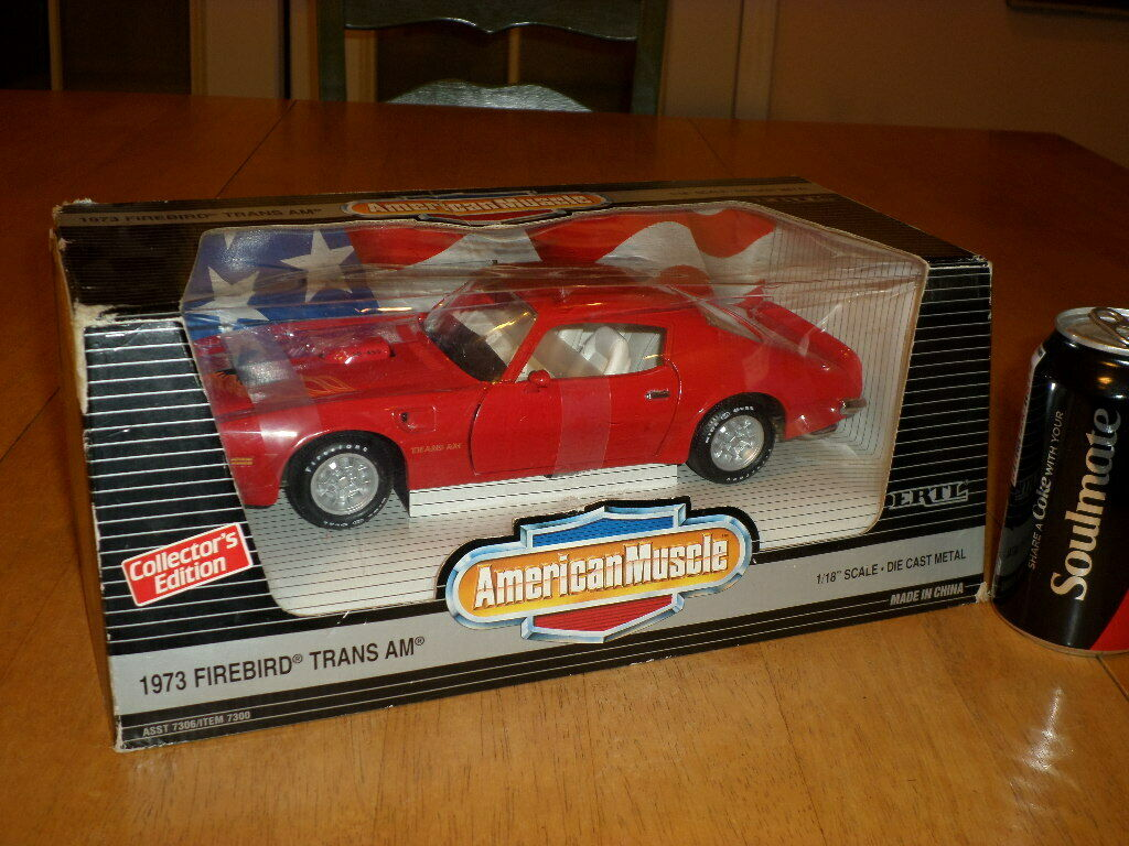 1973 FIREBIRD TRANS AM, ERTL BRAND, DIE CAST METAL FACTORY BUILT CAR TOY, 1 18