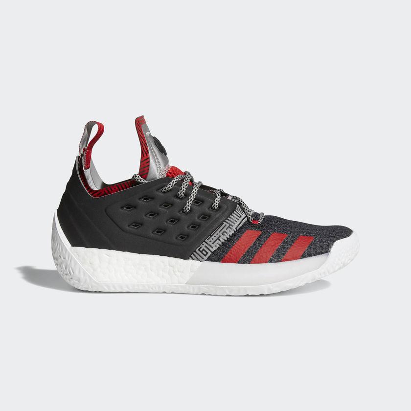 Adidas James Harden Vol. Volume 2 Pioneer Core Black Grey Scarlet Red AH2123