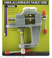 MINI TABLE VISE Craft Hobby Jewelry Vice Aluminum Clamp on Work Shop Tool