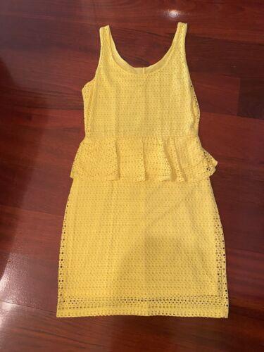 Gianni Bini Bright Yellow Dress Size S