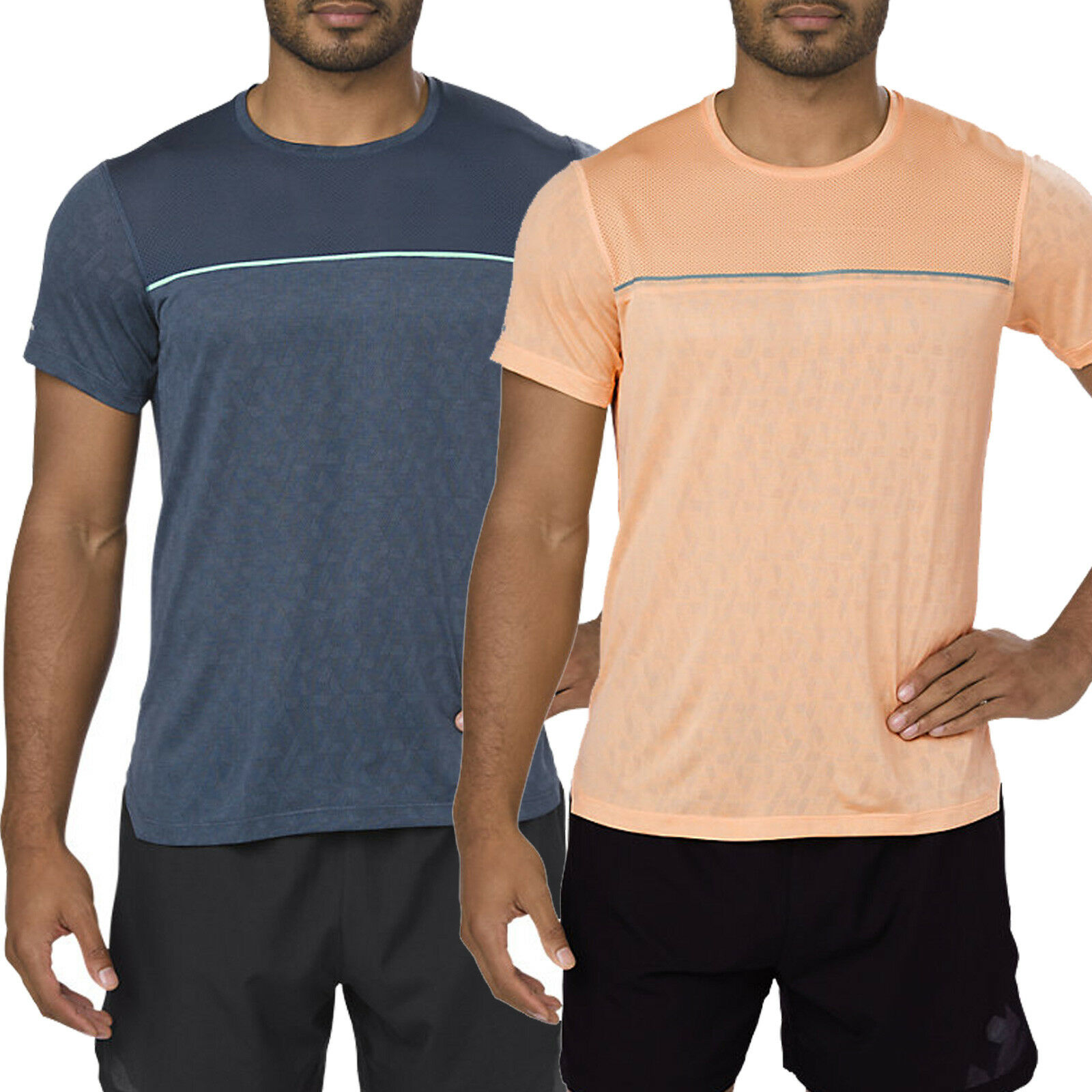 ASICS PERFORMANCE GEL-COOL UOMO-CORSA A Maniche Corte Shirt-Maglietta Sport Camicia Funzione
