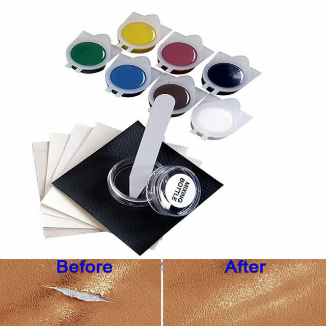 Car Seat Leather Upholstery Hole Rips Burns No Heat Liquid Vinyl Repair Tool Kit