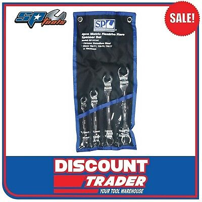 SP Tools 4 Piece Metric Flex Head Flare Nut Spanner Set - SP10144