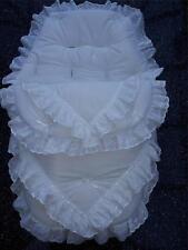 Baby's Cosy toes/saco 3 en 1 en el diseño de diseño de encaje blanco de doble