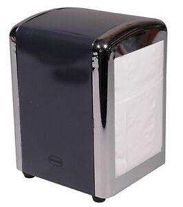 Retro-1950-039-s-American-Diner-Style-Napkin-Serviette-Tissue-Dispenser-Holder-Grey