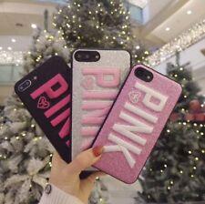 low priced b7fae f973a Victoria's Secret Pink iPhone 6/7 Plus Case Black Silver Logo Card ...
