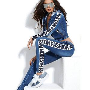 By-Alina-Mexton-Jeans-2-Teiler-Jeansjacke-Roehrenjeans-Jeanshose-Freizeitanzug-M