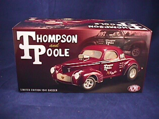 ACME 1 18 Thompson et Poole Limited Edition 1941 Gasser Diecast voiture 1 de 600