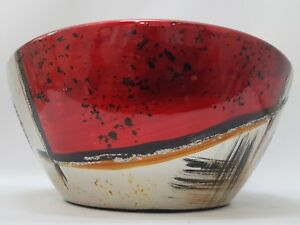 Image Is Loading Silver Hand Painted Ceramic Decorative Fruit Bowl With