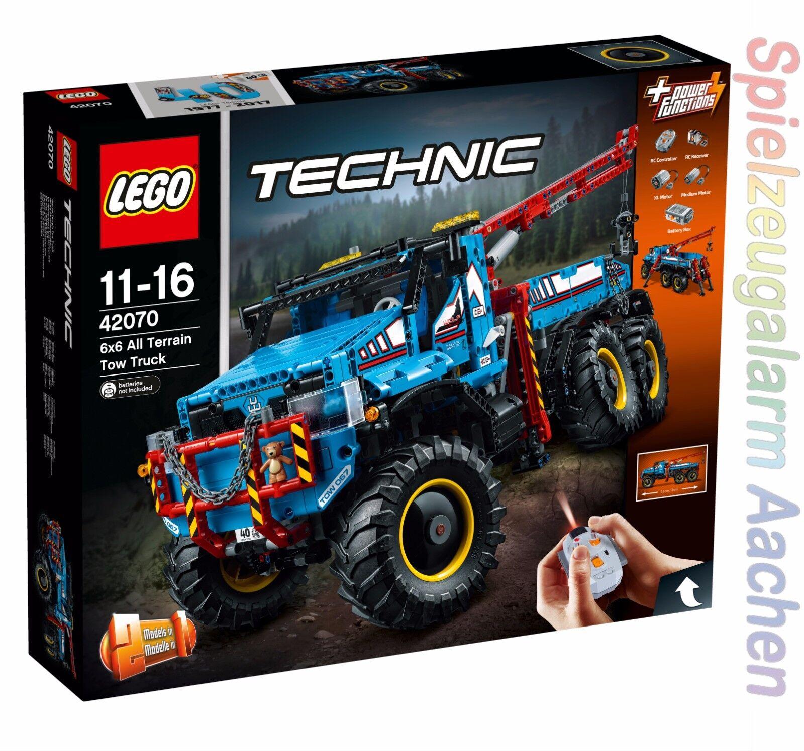 LEGO TEKNIK 42070 Allrad -Abschlepwagen La d 65533;rough 6553333; panneuse tout -terräng 6x6 N8  17