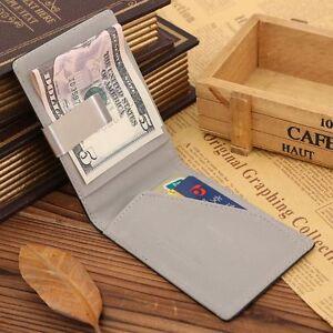 Wallet-Banknote-Holder-Small-Pocket-Money-Clip-Cash-Clamp-Men-039-s-Purses-Wallets