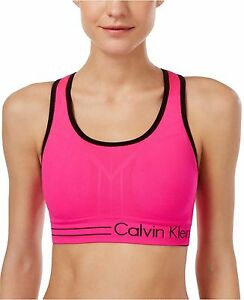 f9a6212b83fc8 New Calvin Klein Performance Women s Reversible Racerback Sports Bra ...
