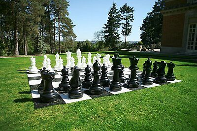 New Giant Chess Set With Plastic Chess Pieces Up To 64cm Ideal for the Garden