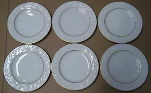 NORITAKE-IVORY-CHINA-HALLS-OF-IVY-LOT-OF-6-BREAD-BUTTER-PLATES-6-3-4-INCH