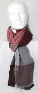 per Ottica blocco check spina le lana Web in signore Merino di Sciarpa pesce con a IWDH2YE9