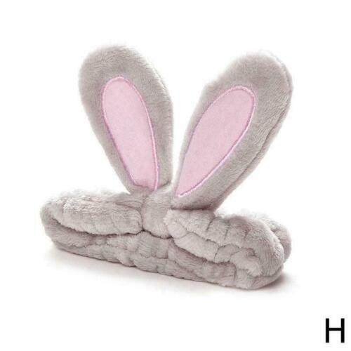 Cute Rabbit Bunny Ear Makeup Headband Mask Soft Hair Band Women Face AU M7A6
