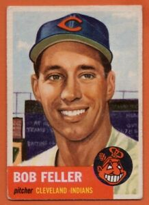 1953-Topps-54-Bob-Feller-VG-VGEX-CREASE-Cleveland-Indians-HOF-FREE-SHIPPING