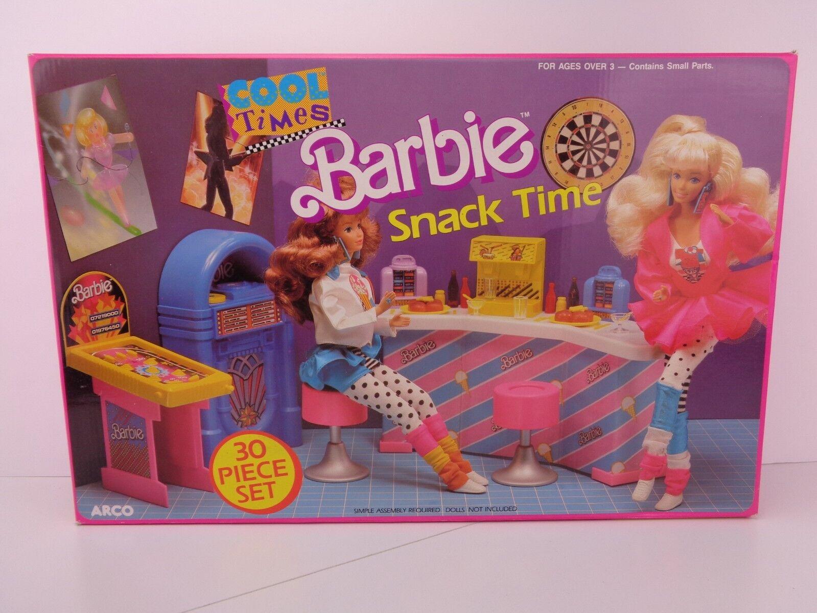 Vintage 1989 Barbie Cool veces Snack tiempo Arco Sellado Nuevo En Caja Como Nuevo