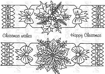 Crafty Impressions A6 Clear Stamps CHRISTMAS CRACKERS CICSA6277 Sue Dix Happy
