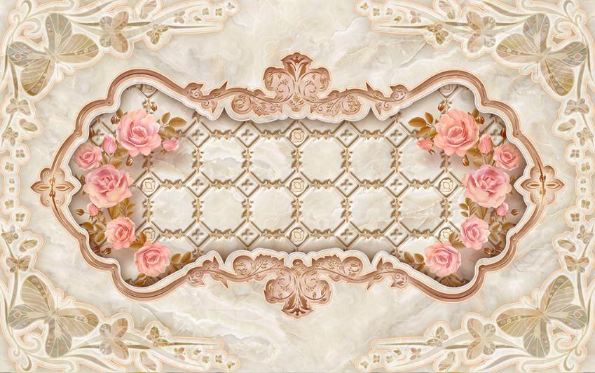 Papel Pintado Mural Vellón Decoración 2 De Mariposa Rosa 2 Decoración aisaje Fondo Pantalla c4e795