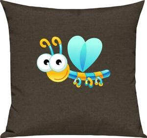 Kinder Kissen, Libelle Insekt Tiere Tier Natur, Kuschelkissen Couch Deko,
