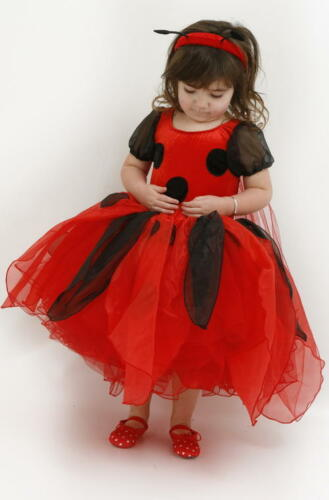 SALE SECONDS 2-4//4-6yr  FRILLY LILY DESIGNER LADYBIRD DRESS USUALLY £38 ONLY £14