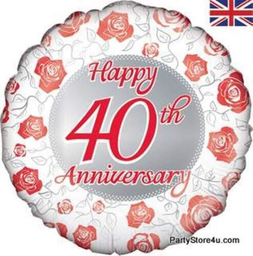 """18/"""" globo de la hoja /""""Happy 40TH aniversario/"""" celebración"""