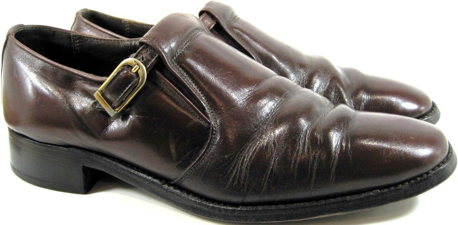 Bostonian Men Loafer schuhe Größe 9 braun Style 5594 Brass Buckle Microlite Heels