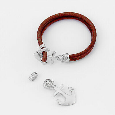 Anchor Bracelet claps,Silver Anchor Clasp,Anchor connector,anchor jewelry,jewelry making,fit for leather cord,anchor charm