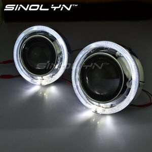 Led Angel Eyes Halo 2 5 Hid Bi Xenon Projector Lens Car Headlight