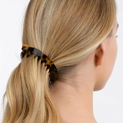 Vintage Banana Clip Hair Claw Ponytail Holder For Women 2Pcs Hair Accessories