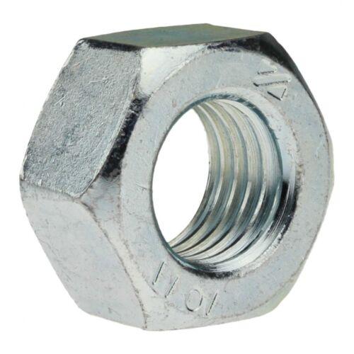 10x DIN 934 Sechskantmuttern verz M 16 x 1.5 Stahl Klasse 10 Feingewinde galv