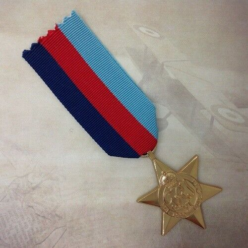 1939 - 1945 STAR MEDAL | GOLD TONE | WWII | WORLD WAR TWO | CAMPAIGN | ARMY