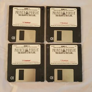 Prince-of-Persia-3-5-034-ibm-broderbund-1993-The-Shadow-amp-the-Flame-disk-1-4-discs