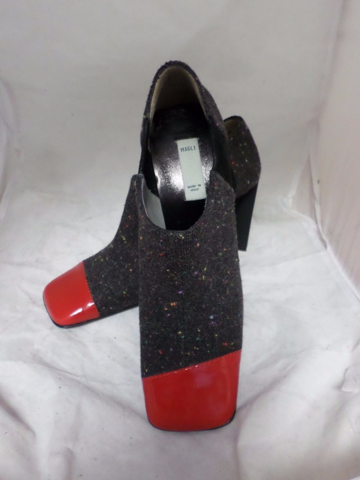 Magli Ankle Boots Grey Red UK 3 EU 36 LN06 82 SALEw