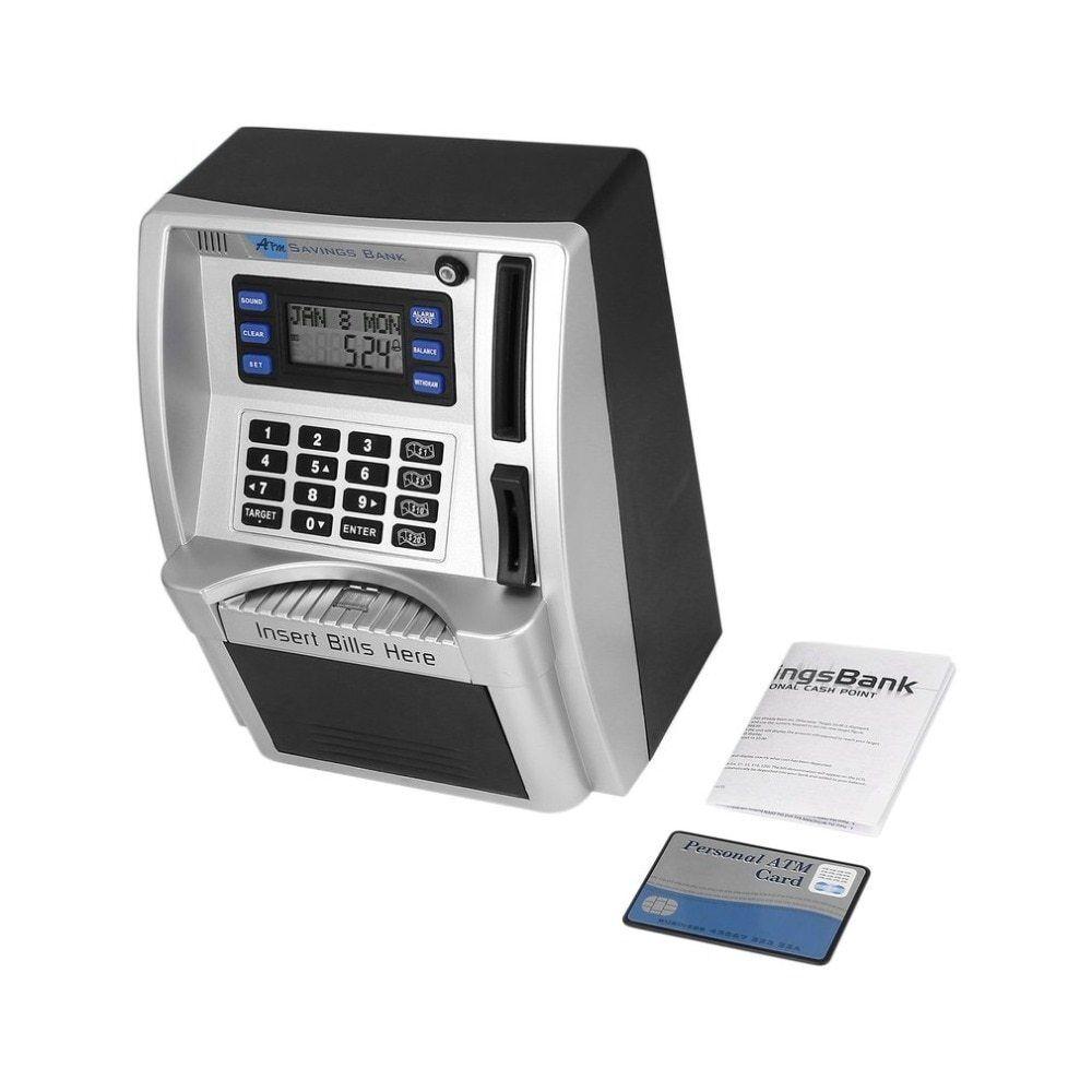 ATM Savings Bank Toys Kids Talking ATM Savings Bank Insert Bills Own Personal