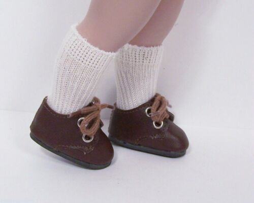 """CHOCOLATE DK BROWN Doll Shoes for Robert Tonner/'s 10/""""  Michael Boy Doll Debs"""