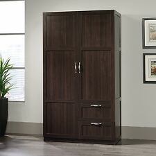 Item 4 Storage Cabinets With Drawers Doors Wardrobe Closet Wood Clothing  Armoire Cherry  Storage Cabinets With Drawers Doors Wardrobe Closet Wood  Clothing ...